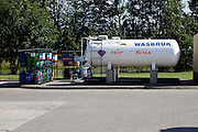 Large gas storage tank. Rawa Mazowiecka Central Poland