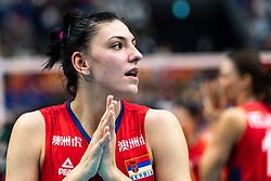 20-10-2018 JPN: Final World Championship Volleyball Women day 21, Yokohama<br /> Serbia - Italy 3-2 / Serbia World Champion, Tijana Boskovic #18 of Serbia
