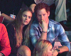 HRH Prince Harry and Cressida Bonas at WE Day, Wembley Arena, London.