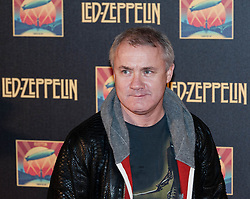 © Licensed to London News Pictures. 12/10/2012. London, UK.  Artist Damien Hirst at the cinema premiere of Celebration Day, the recording of their 2007 live show held at the O2 Arena, screened at the Hammersmith Apollo.  Photo credit : Richard Isaac/LNP