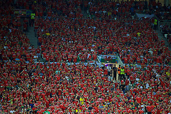 LYON, FRANCE - Wednesday, July 6, 2016: Wales supporters during the UEFA Euro 2016 Championship Semi-Final match against Portugal at the Stade de Lyon. (Pic by David Rawcliffe/Propaganda)