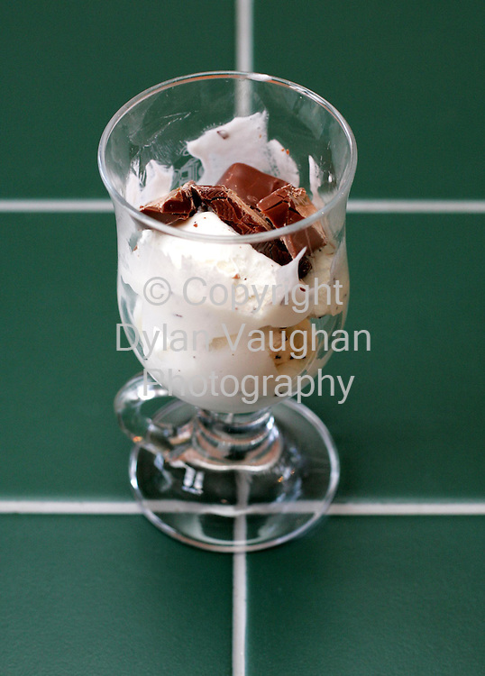 3/2/2005.E McSweeney food for weekender.Week 97.Desert.Mars bars and ice cream.Picture Dylan Vaughan