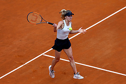 May 20, 2018 - Rome, Italy - Elina Svitolina of Ukraine returns a forehand in her Womens Final match against Simona Halep of Romania during day 8 of the Internazionali BNL d'Italia 2018 tennis at Foro Italico on May 20, 2018 in Rome, Italy. (Credit Image: © Matteo Ciambelli/NurPhoto via ZUMA Press)