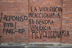 Graffitis und Street Art in Bogota / 240916<br />