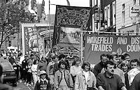 Ellington Branch banner. 1993 Yorkshire Miner's Gala. Wakefield.