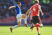 Ian Henderson shoots during the EFL Sky Bet League 1 match between Sunderland and Rochdale at the Stadium Of Light, Sunderland, England on 22 September 2018.