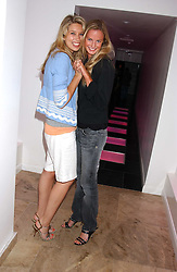 Left to rght, ALEX FINLAY and EUGENIE WARRE at the launch of Friday Nights at Mamilanji - Chelsea's newest and most exclusive members club, 107 Kings Road, London SW3 hosted by Charlie Gilkes and Duncan Stirling held on 29th July 2005.<br />
