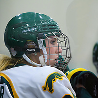 1st year forward Merissa Zerr (24) of the Regina Cougars in action during the Women's Hockey Game on November 25 at Co-operators arena. Credit: Arthur Ward/Arthur Images