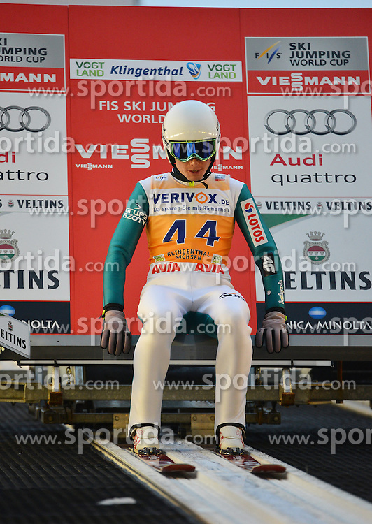21.11.2014, Vogtland Arena, Klingenthal, GER, FIS Weltcup Ski Sprung, Klingenthal, Herren, HS 140, Qualifikation, im Bild Jan Ziobro (POL) // during the mens HS 140 qualification of FIS Ski jumping World Cup at the Vogtland Arena in Klingenthal, Germany on 2014/11/21. EXPA Pictures &copy; 2014, PhotoCredit: EXPA/ Eibner-Pressefoto/ Harzer<br /> <br /> *****ATTENTION - OUT of GER*****