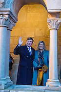 7-2-2017 - Eisenach <br />  - King Willem-Alexander and Maxima visit the Wartburg castle . King Willem-Alexander and Maxima will visit from Tuesday 7 to Friday, February 10th, 2017 a working visit to the German states of Thuringia Th&uuml;ringen, Saxony and Saxony-Anhalt  Saksen en Saksen-Anhalt. Copyright ROBIN UTRECHT<br /> Themadiner over de Reformatie