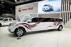 Chinese made Great Wall cars on display at the Dubai Motor Show 2013 United Arab Emirates
