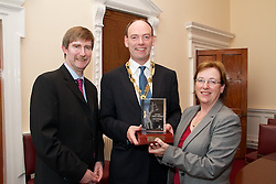 ?OVERALL WINNER?.The ?Overall Winner? award in the Justice Media Awards 2012? is: Carol Coulter of The Irish Times for her excellent series - ?The Legal System?...Pictured at the awards.Ken Murphy, Ken Murphy, Director General of the Law Society of Ireland.Carol Coulter of The Irish Times.President of Law Society of Ireland, Donald Binchy..What the judges said: .?This year?s ?Overall Winner? award is being presented to Carol Coulter of The Irish Times for an outstanding entry that, in its content, revealed: ..?.A significant amount of research; .?.Contained justified criticism of many aspects of the Irish legal system, while at the same time, drawing attention to the challenges the legal system faces on so many fronts;.?.Was fair and balanced in its reporting; .?.Made informed suggestions about the most pressing issues that need to be addressed to ensure access to justice for all; and.?.Was admirably clear in communicating its message to the general public about several complicated aspects of the legal system. ..The judges described this newspaper series as ?One of the best it has encountered in recent years. This series of articles represents the best of journalism in the legal sphere. The writer and newspaper is to be congratulated for devoting the time, energy and space in bringing these important and highly significant legal issues to the attention of its readers.? ...For further information, please contact: ..Ken Murphy, Director General of the Law Society of Ireland.Mob: 087 257 4337.OR.Mark McDermott, Law Society of Ireland.Mob: 087 290 3008.