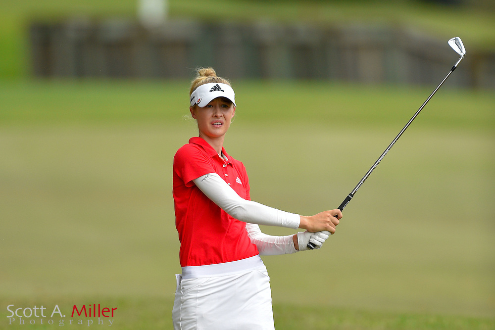 Nelly Korda during the third round of the Symetra Tour Championship at Alaqua Country Club in Longwood, Florida on Oct. 15, 2016 .<br /> <br /> &copy;2016 Scott A. Miller