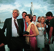 George Plimpton, Richard Holbrooke, Katie Marton, Sarah-Jessica Parker  at the Talk magazine launch. New York. 2 September 1999.<br /> © Copyright Photograph by Dafydd Jones<br /> 66 Stockwell Park Rd. London SW9 0DA<br /> Tel 0171 733 0108