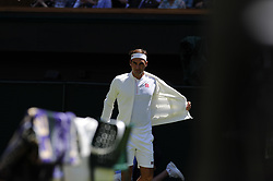 July 2, 2018 - Angleterre - Wimbledon - Roger Federer Suisse nouveau sponsor Uniqlo (Credit Image: © Panoramic via ZUMA Press)