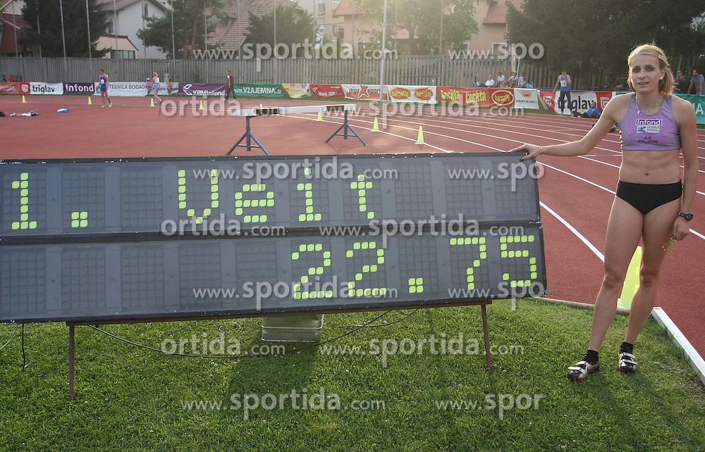 Sabina Veit at Athletic National Championship of Slovenia, on July 20, 2008, in Stadium Poljane, Maribor, Slovenia. (Photo by Vid Ponikvar / Sportal Images).
