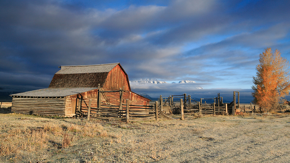 The Moulton Barns and homesteads are an iconic feature of the Grand Tetons landscape.  The barns are located on Antelope Flats with an impressive backdrop of the Grand Tetons.