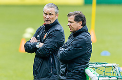 31.05.2016, Leogang, AUT, UEFA Euro, Frankreich, Vorbereitung Ungarn, Training, im Bild v.l.: Trainer Bernd Storck (HUN) und Co-Trainer Andreas Moeller // f.l.: Hungarian national team Coach Bernd Storck and his Assistent Coach Andreas Moeller during a training session at the Trainingscamp of Team Hungary for Preparation of the UEFA Euro 2016 France. Leogang, Austria on 2016/05/31. EXPA Pictures © 2016, PhotoCredit: EXPA/ JFK