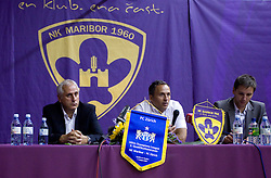 Coach of Zurich Bernard Challandes and Coach of NK Maribor Darko Milanic at press conference afterThird Round of Champions League qualifications football match between NK Maribor and FC Zurich,  on August 05, 2009, in Ljudski vrt , Maribor, Slovenia. Zurich won 3:0 and qualified to next Round. (Photo by Vid Ponikvar / Sportida)