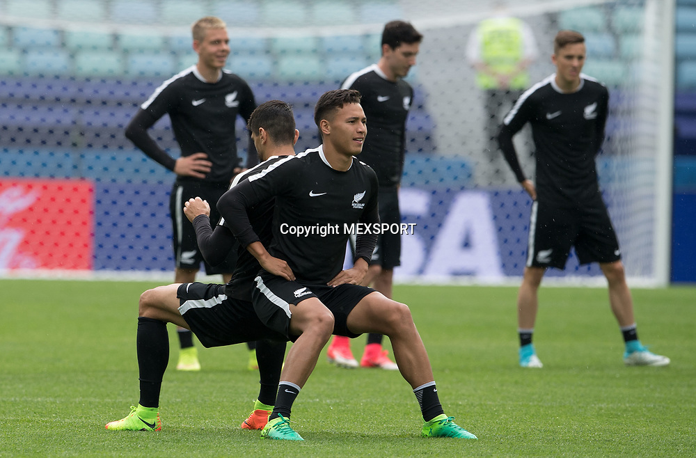 Clayton Lewis, Training session, New Zealand Team ahead of their match with Mexio, Group A, FIFA Confederations Cup Russia 2017 at Olimpiyskiy Stadion Fisht, Sochi, Russia. 20 June 2017. Image: MEXSPORT/David Leah / www.photosport.nz