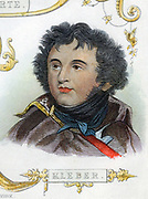 Jean Baptiste Kleber (1753-1800) French soldier. Commanded French forces in Egypt after Napoleon left. Kleber was assassinated in Cairo by an Egyptian fanatic. Hand-coloured engraving