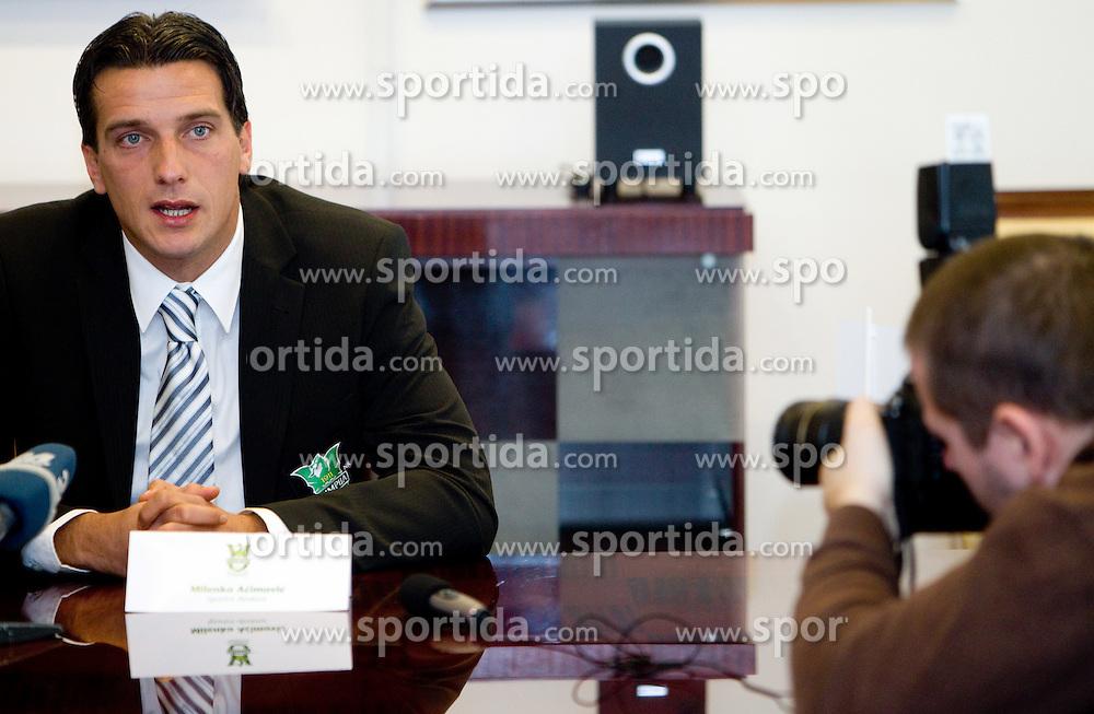 Milenko Acimovic, new sports director at press conference of NK Olimpija Ljubljana, on January 26, 2011 in Hala Tivoli, Ljubljana, Slovenia. (Photo By Vid Ponikvar / Sportida.com)