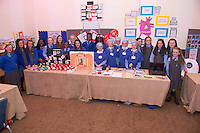 Pupils from Scoil Mhuire Oranmore at the Medtronic Community Event , comprising of projects about Healthy Living and the heart, KNEX finals and Lean Sigma catapult competition organised by the Galway Education Centre at the Radisson Blu Hotel Galway. Photo:Andrew Downes.