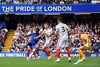 Football - 2019 / 2020 Premier League - Chelsea vs. Sheffield United<br /> <br /> Chelsea's Tammy Abraham scores the opening goal, at Stamford Bridge.<br /> <br /> COLORSPORT/ASHLEY WESTERN