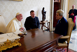 December 2, 2016 - Rome, Italy - U.S Secretary of State John Kerry meets with Pope Francis at the Vatican December 2, 2016 in Rome, Italy. (Credit Image: © Us State Department/Planet Pix via ZUMA Wire)