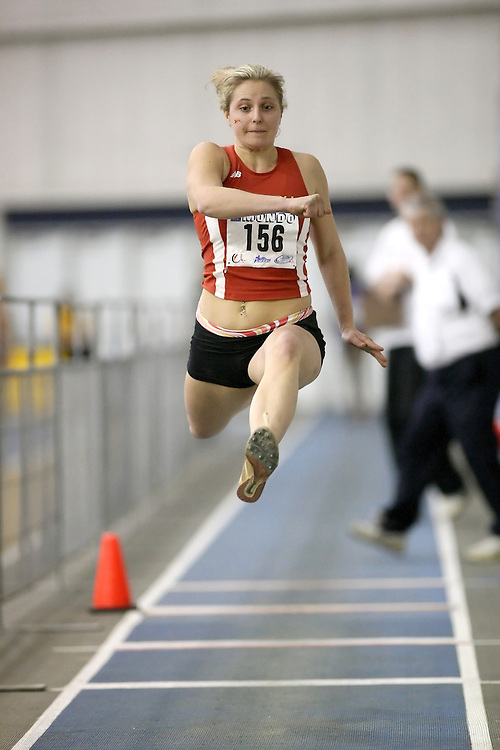Windsor, Ontario ---14/03/09--- Desiree Garcon of  the University of Guelph competes in the Women's Triple Jump at the CIS track and field championships in Windsor, Ontario, March 14, 2009..Sean Burges Mundo Sport Images