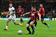 Ryan Fraser (24) of AFC Bournemouth on the attack during the The FA Cup match between Bournemouth and Luton Town at the Vitality Stadium, Bournemouth, England on 4 January 2020.