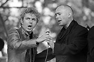 Ken Gregson and Dave Gittins aka Red Stripe, The Flying Pickets perform at Marx with Sparks. Alexander Palace.