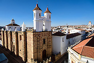 A view of old Sucre, with the Convento de San Felipe Neri in the foreground.
