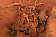 Ancient Grave or Buriel Urn<br />San Pedro de Atacama Culture<br />San Pedro de Atacama Museum<br />CHILE.  South America
