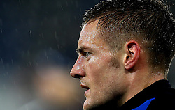 Jamie Vardy of Leicester City gives a steely eyed look in the rain - Mandatory by-line: Robbie Stephenson/JMP - 10/12/2016 - FOOTBALL - King Power Stadium - Leicester, England - Leicester City v Manchester City - Premier League