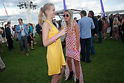 POSY BRINDLEY; ROSIE EGAN, After party at China White's club. Cartier International Day at Guard Polo Club, Windsor Great Park. 24 July 2011. ChinaWhite Tent during Cartier Polo. <br /> <br />  , -DO NOT ARCHIVE-© Copyright Photograph by Dafydd Jones. 248 Clapham Rd. London SW9 0PZ. Tel 0207 820 0771. www.dafjones.com.