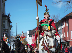 02.04.2018, Traunstein, GER, Georgi Ritt Traunstein 2018, im Bild Römische Reiter // during the traditionell Georgi Ritt on Easter Monday in. in Traunstein, Germany on 2018/04/02. EXPA Pictures © 2018, PhotoCredit: EXPA/ Erst Wukits