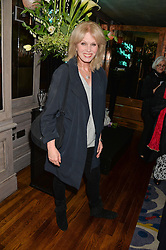 JOANNA LUMLEY at a party to celebrate the publication on 'Just One More - A Photographers Memoir' by Gemma Levine held at 34, South Audley Street, London on 7th April 2014.
