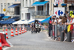 Lizzie Deignan (GBR) of Boels-Dolmans Cycling Team leads the chase near the harbour of Marseille on La Course High Speed Pursuit 2017 - a 22.5 km pursuit road race on July 22, 2017, in Marseille, France. (Photo by Balint Hamvas/Velofocus.com) of Boels-Dolmans Cycling Team leads the chase near the harbour of Marseille on La Course High Speed Pursuit 2017 - a 22.5 km pursuit road race on July 22, 2017, in Marseille, France. (Photo by Balint Hamvas/Velofocus.com)