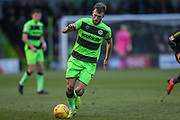 Forest Green Rovers Christian Doidge(9) on the ball during the EFL Sky Bet League 2 match between Forest Green Rovers and Yeovil Town at the New Lawn, Forest Green, United Kingdom on 16 February 2019.