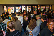 "24 NOVEMBER 2011 - PHOENIX, AZ:  People wait to get into Paradise Valley Mall Thursday. ""Black Friday,"" the unofficial start of the holiday shopping season started even earlier than normal. Many stores, including Target and Best Buy, opened at midnight.    Photo by Jack Kurtz"