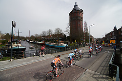 The peloton head back toward the city centre at Healthy Ageing Tour 2018 - Stage 5, a 94.3 km road race in Groningen on April 8, 2018. Photo by Sean Robinson/Velofocus.com