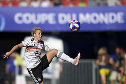 June 29, 2019 - Rennes, France - Carolin Simon (Olympique Lyon) of Germany controls the ball during the 2019 FIFA Women's World Cup France Quarter Final match between Germany and Sweden at Roazhon Park on June 29, 2019 in Rennes, France. (Credit Image: © Jose Breton/NurPhoto via ZUMA Press)