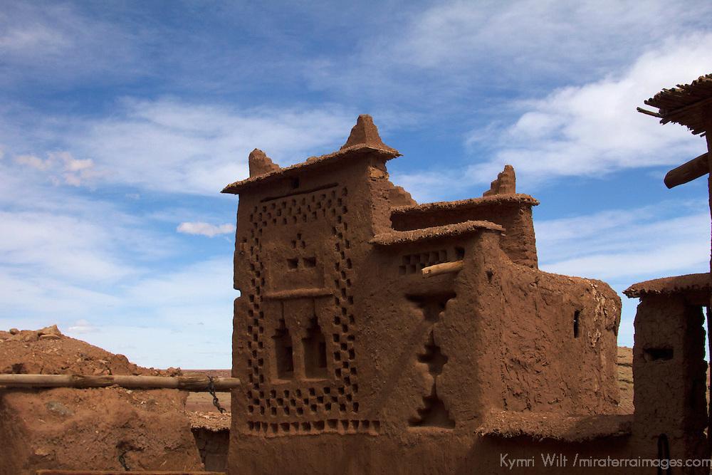 Africa, Morocco, Ourazazate. Ait Ben Haddou architecture.