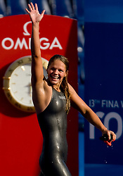 Winner  Yuliya  Efimova of Russia  after the Women's  50m Breaststroke Final during the 13th FINA World Championships Roma 2009, on August 2, 2009, at the Stadio del Nuoto,  in Foro Italico, Rome, Italy. (Photo by Vid Ponikvar / Sportida)