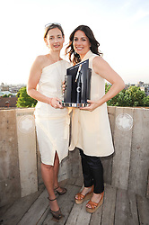 Left to right, CANDIDA GERTLER and YANA PEEL at the Montblanc de la Culture Arts Patonage Award 2010 held at Floors 7-10, Multi-Storey Car Park, 95A Rye Lane, London SE15 on 30th June 2010.  The 2010 UK winners were Yana Peel & Candida Gertler.