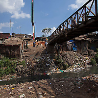 A view along the Mathare River.