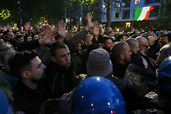 Italy, Milan - April 29, 2019.Right-wing groups demonstrate in honor of Sergio Ramelli of fascist party 'Fronte della Gioventù', killed in 1975. (Credit Image: © Alberico/Fotogramma/Ropi via ZUMA Press)