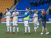 24th March 2018, McDiarmid Park, Perth, Scotland; Scottish Football Challenge Cup Final, Dumbarton versus Inverness Caledonian Thistle; Dejected Dumbarton players and staff at the end