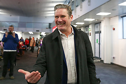 © Licensed to London News Pictures. 16/02/2020. London, UK. KEIR STARMER MP for for Holborn and St Pancras and Shadow Secretary of State for Exiting the European Union arrives for the Labour leadership hustings event hosted by the Co-operative Party held at Business Design Centre, north London. Photo credit: Dinendra Haria/LNP